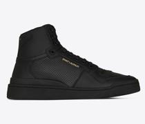Mittelhoch Geschnittene Sl24 Sneaker aus Perforiertem Leder Im sed-Look Schwarz