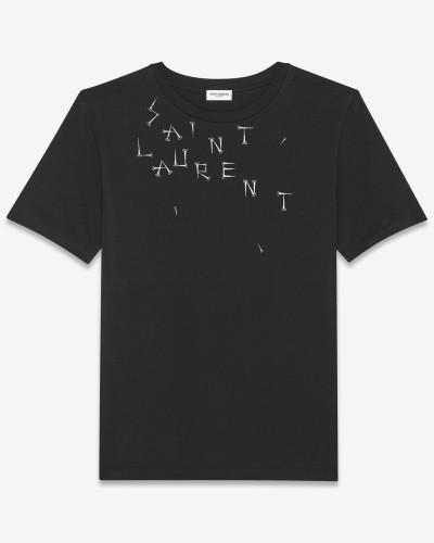 """T-Shirt mit """"Saint Laurent-Nieten"""""""