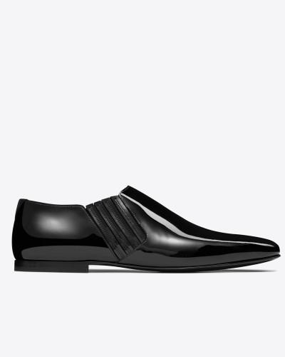 Cropped connor 20 Stiefel aus schwarzem Lackleder