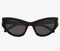 Sonnenbrille NEW WAVE 215 GRACE aus schwarzem Acetat mit grauen Gläsern