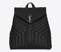 medium loulou monogram rucksack in schwarz