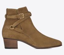 signatur blake jodhpur 40 boots aus zigarrenbraunem wildleder