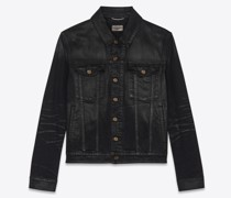 Jacket In Lightly  Stretch Denim Schwarz