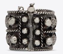 marrakech berber ring aus zinn und silberfarbenem messing
