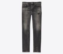 Tokyo Schwarze Skinny-Jeans aus Stretchdenim Grau