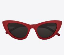 Sonnenbrille NEW WAVE 213 LILY aus rotem Acetat mit grauen Gläsern