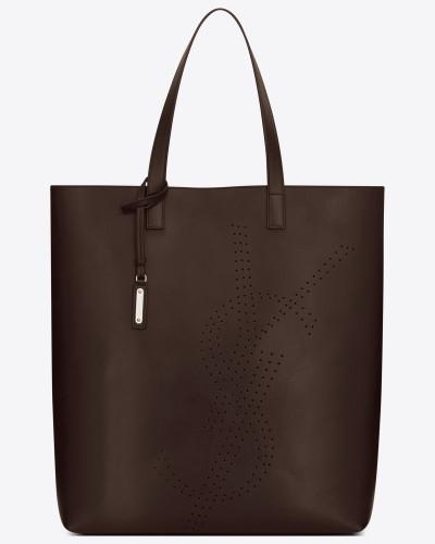 Online Kaufen Saint Laurent Herren bold shoppertasche aus schokoladebraunem vintage-leder mit logo-perforation Rabatt 2018 Fh95z