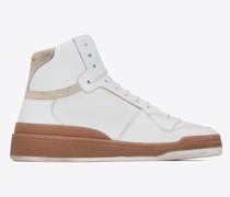 Mittelhoch Geschnittene Sl24 Sneaker aus Leder Wildleder Weiß