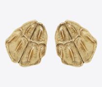 opyum ohrringe mit krokostruktur in gold