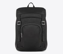 délavé rucksack aus verwaschenem schwarzem leder