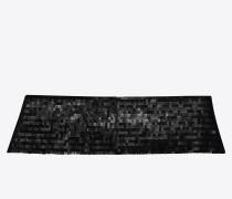schwarzer smoking kummerbund mit pailletten und 5 falten