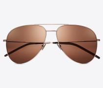Sonnenbrille CLASSIC 11 aus champagnerfarbenem Metall mit champagnerfarbenen Gläsern