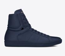 klassischer signature court sl/01h high-top-sneaker aus indigoblauem leder