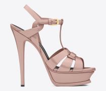 klassische tribute 105 sandale aus hellrosa lackleder