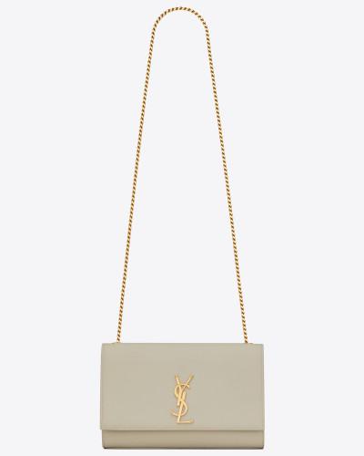 Mittlere Kate Tasche aus Leder mit Grain-de-Poudre-Struktur