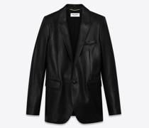 Leather Suit Jacket Schwarz