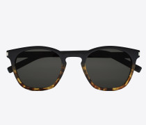 classic 28 sunglasses in black and havana brown acetate frames with gray lenses