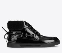 joe halbhoher bootssneaker in schwarz