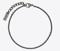 Kleines Facettiertes Kettenarmband Silber