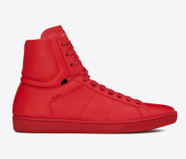 klassischer signature court sl/01h high-top-sneaker aus rotem leder