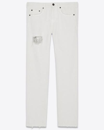 Boyfriend-Jeans in Chalk-Stonewash-Optik mit Flicken