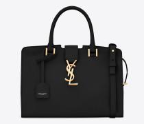 baby cabas monogram tasche aus schwarzem leder