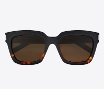 bold 1 sunglasses in black and havana red acetate frames with smoked lenses