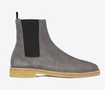 nevada 20 chelsea-boot aus tongrauem veloursleder