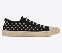 BEDFORD canvas sneakers decorated with studs