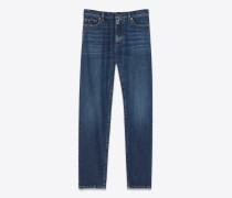 Baggy-Jeans aus blauem Denim