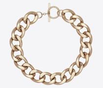 Lange Halskette aus Metall Gelb & Gold