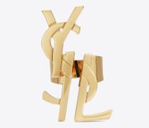 monogram dekonstruierter ring in altgold