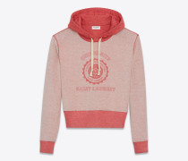 Saint Laurent Université Sweatshirt aus rot meliertem Frottee