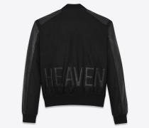heaven varsity-jacke aus schwarzem filz