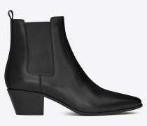 rock 40 ankle boot in black leather