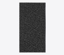 """schal aus schwarzem und weißem wolletamin mit """"je t'aime""""-print"""