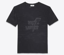 blitz t-shirt aus schwarzem dévoré-jersey