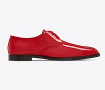 Smoking 15 Derby-Schuh aus rotem Lackleder