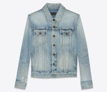 Boyfriend Denim Jacket In  Blau
