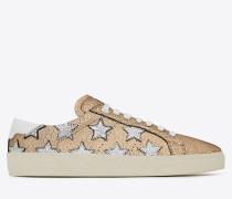 signature court classic sl/06 california sneaker in gold, silber und optischem weiß