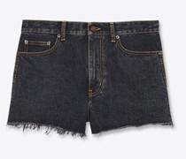 Baggy Shorts In  Denim Grau
