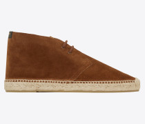 Laced espadrilles in suede