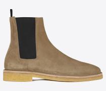 Nevada 20 Chelsea-Stiefel aus hellbraunem Veloursleder