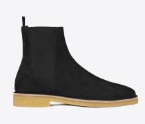 nevada 20 chelsea-boot aus schwarzem veloursleder
