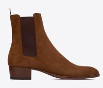Wyatt Chelsea Boots In Suede Gelb