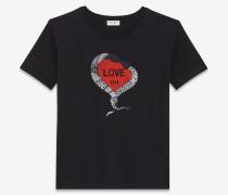 T-Shirt aus schwarzem Jersey mit LOVE 1974-Print
