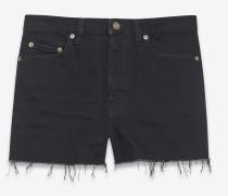 Baggy-Shorts aus schwarzem Denim