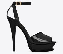 schwarze tribute 105 peep-toe-sandale