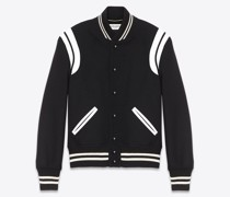 Teddy Jacket aus Schwarzer Wolle Schwarz