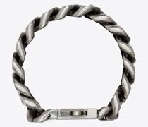 Panzerketten-Armband aus Metall Silber